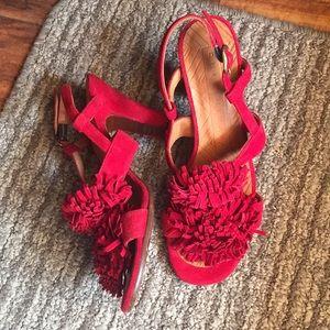 Chie Mihara Bonya sling size 37 deep red